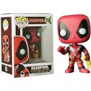 Funko Pop Deadpool Exclusivo Con Pollo De Plastico With Rubber Chicken-Multicolor