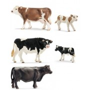 Schleich Schleich Mixed Farm Life with Pasture Fence Holstein Bull Fell Stallion Hereford Calf Pig Piglet and Duck Shipped with Tissue Paper in Bag