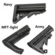 Black MFT-light/Army/Navy Nylon Buttstock For Gel Ball Blasting Guns Toy Replacement Accessories For JinMing 8th M4A1