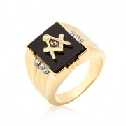 J. Goodin Gold Bonded Men's Masonic Ring R06239G-V02
