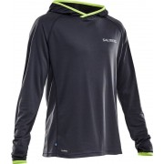 Salming M's Lightweight Hood Grey S 2017 Långärmade löpartröjor