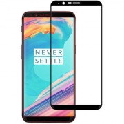 Stuffcool Mighty 2.5D Full Screen Tempered Glass Screen Protector Guard for OnePlus 5T / One Plus 5T / OP5T - Black