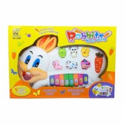Rabbit Musical Piano for Kids With 3 Modes Animal Sounds Flashing Lights Wonderful Music