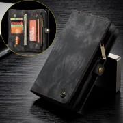 CASEME Vintage Split Leather Multi-slot Wallet Case for Huawei P20 Pro - Black