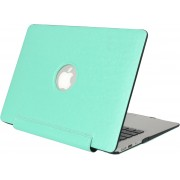 Mobigear Hard Case Silk Texture United Turquoise voor Apple MacBook Air 13 inch