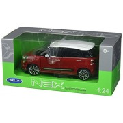 2013 Fiat Red 500L 1/24 by Welly 24038