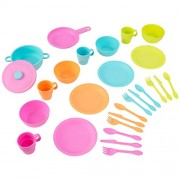 KidKraft Bright Cookware Set, Multi Color (27 Pieces)