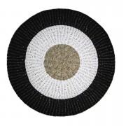 HSM Collection tapis Seff - naturel/blanc/noir - 150x150 cm - Leen Bakker