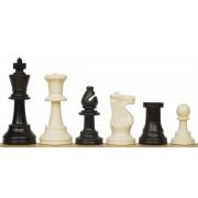 Piese de șah din plastic FRENCH cu contragreutate