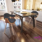 vidaXL 2 Blagovaonske Stolice od Savijenog Drveta i Tkanine