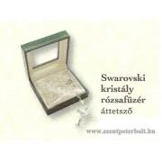 Swarovski kristály rózsafüzér áttetsző