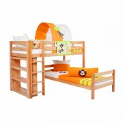 Dečiji krevet na sprat Emil Natur Africa
