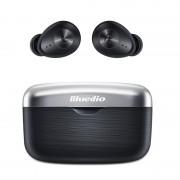 Casti wireless in ear Bluedio Fi cu cutie de incarcare si transport Bluetooth 5.0 Chip Qualcomm Touch control VFT APTX Negru