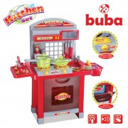 Голяма детска кухня Buba Superior, червена