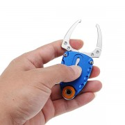 LAOTIE 19mm Stainless Steel Outdoor Portable Fishing Pliers Mini Fishing Gripper Fish-lip Pincer