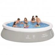 Jilong Кръгъл надуваем басейн, сив, 450x122 см