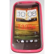 Силиконов гръб ТПУ за HTC Desire V T328w Розов