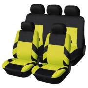 Univerzális üléshuzat garnitúra fekete-sárga (osztható) Exlusive