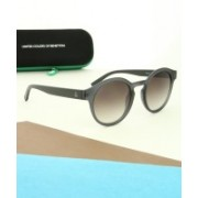 United Colors of Benetton Round Sunglasses(Brown)