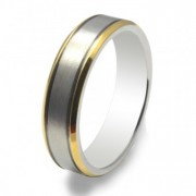 Inel cu magneti placat cu aur cod VOX 3494