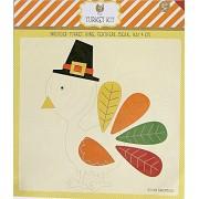 Paper Turkey Thanksgiving Craft Kit - 9 Pieces