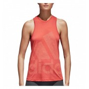 Camiseta De Tirantes Fitness Adidas Logo Cool Tank L Naranja