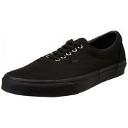 Vans Men's Era Gold Mono Black Leather Sneakers - 8 UK