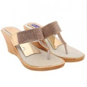 Royal Collection Women Golden Wedges
