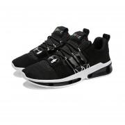 Carta de colores de moda bordados hombres zapatos deportivos verano ejecutando Negro