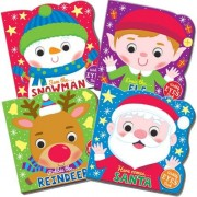 Christmas Wiggle-Eye Board Books - 4 Books With Easy Turn Pages. Great For Santa's Grotto & As A Stocking Filler.
