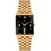 ADIXION 1918YM12 New Stainless Steel Day & Date rectangle Gold watch. Watch - For Men