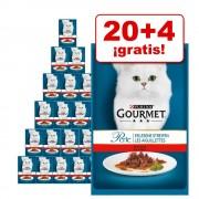 Gourmet Perle 24 x 85 g en oferta: 20 + 4 ¡gratis! - Finas Láminas en Salsa con pollo