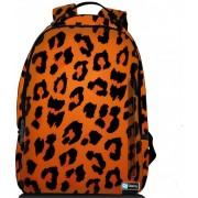 Sleevy laptop rugzak 17,3 Deluxe oranje panterprint