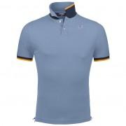 K-Way Polos & Tee-shirts printemps/été homme Slimfit Vincent Contrast Bleu clair