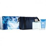 Azzaro Chrome coffret XV. eau de toilette em spray 50 ml + champô para todo o corpo 50 ml + bolsinha