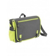 Geanta de Postas/Laptop Everestus PH 15.6 inch 600D poliester gri verde saculet de calatorie si eticheta bagaj incluse