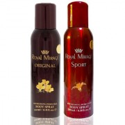 Royal Mirage Body Spray Original 200ml + Royal Mirage Body Spray Sport 200ml - Pack of 2