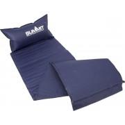 Summit - Zelfopblazende slaapmat met kussen - Comfort slaapmatras - Luchtbed - Camping/Festival matras - 186 CM - Blauw