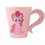 My Little Pony Roze My Little Pony kinderbeker/kindermok Pinkie Pie 320 ml met staart als oor