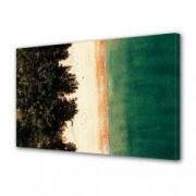 Tablou Canvas Premium Peisaj Multicolor Simetrie pe plaja Decoratiuni Moderne pentru Casa 80 x 160 cm