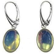 Cercei argint ovali cu opalit 14x10 MM GlamBazaar 3.3 x 1.2 cm cu Opal Translucid tip cercei de argint 925 cu pietre naturale
