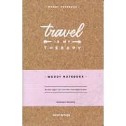 Reisdagboek Notebook Travel is my Therapy | Miss Wood