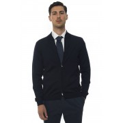 Boss Pullover zip intera Blu Lana Uomo