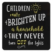 tinnen magneet - children really brighten up a household