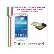 Sostituzione Riparazione Lettore Sim Pista Flat Scheda Rotto per Samsung Galaxy S4 Mini I9192 I9195