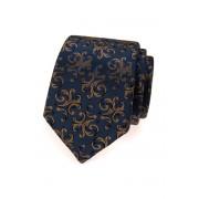 Modrá kravata s hnědými ornamenty Avantgard 561-54