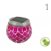 1 LED-es napelemes lámpa 10x9cm 4féle színben - Kerti áru