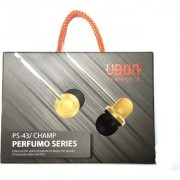 UBON PS-43/CHAMP PERFUMO SERIES Handfree With mic Stereo Earphone 3.5Mm Jack