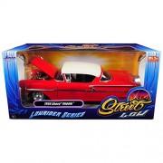 "1958 Chevrolet Impala Red ""Lowrider Series"" Street Low 1/24 Diecast Model Car by Jada"
