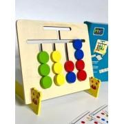 Joc Montessori din lemn- Asociaza culorile si animalele